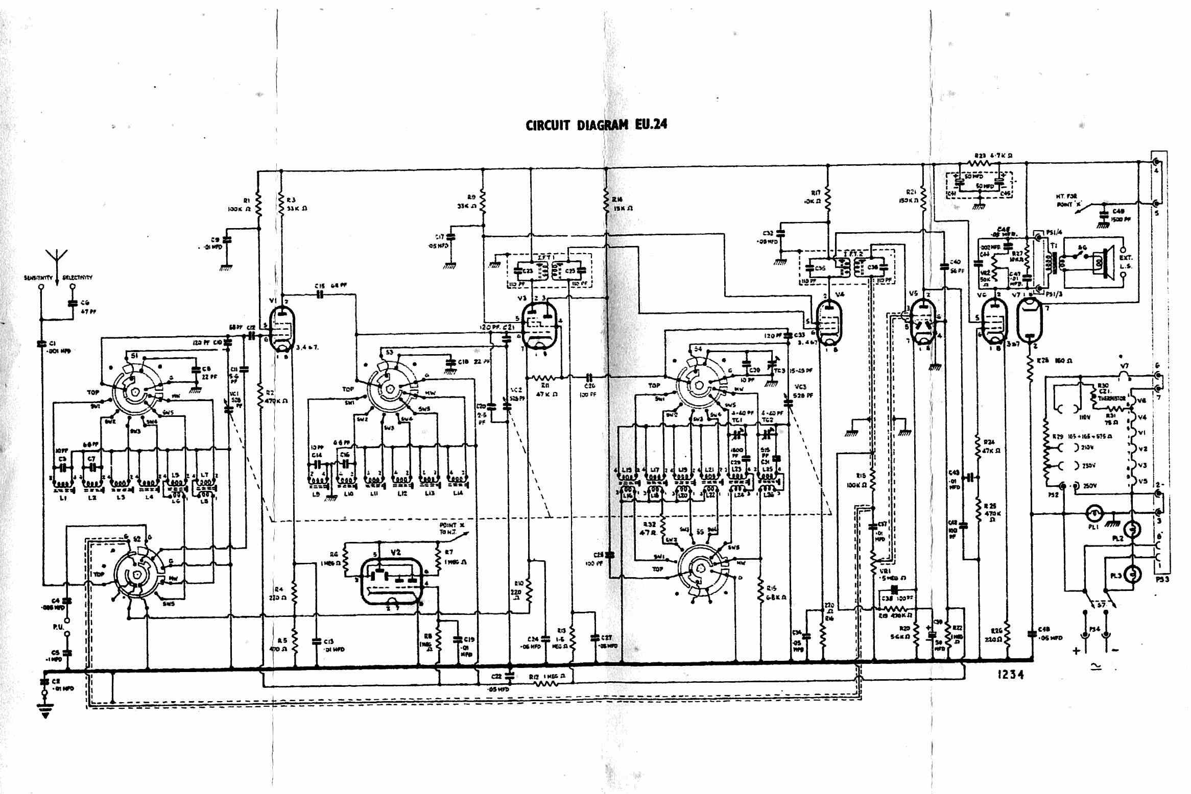 antique radio forums • view topic - bush eu24 antique radio wiring diagrams